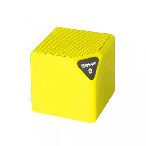 cheap X3 Mini Bluetooth Speaker with LED Light - Yellow