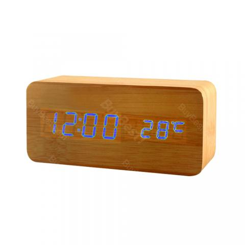 Wooden Electronic Alarm Clock
