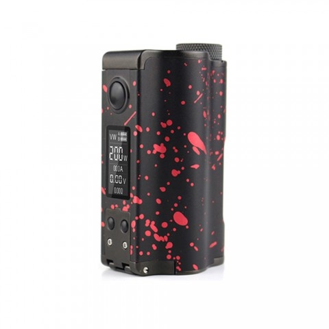 cheap 200W DOVPO Topside Dual TC Squonk MOD Top Fill MOD - Black /Red Standard Edition
