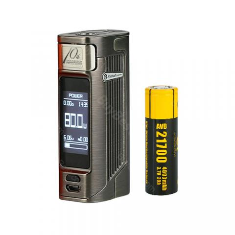 cheap 80W Joyetech Espion Solo 21700 TC Box Mod - 4000mAh, Gun Metal