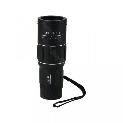 cheap 16x52 Dual Focus Monocular Telescope  - Black