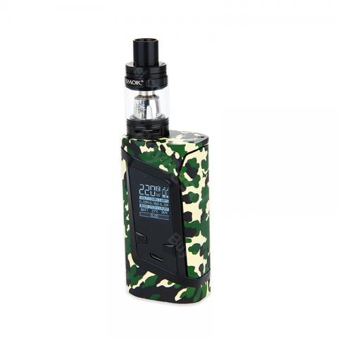 cheap 220W SMOK Alien Kit with TFV8 Baby Tank Atomizer - Army Green Standard Edition