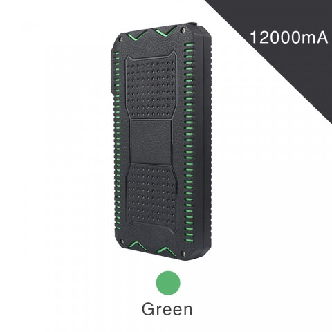 ET Waterproof Solar Powerbank for iPhone/Xiaomi - 12000mAh
