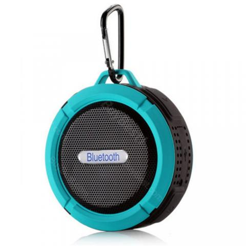 cheap C6 Bluetooth Speaker with Big Sucker IP56 Waterproof - Blue