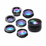 Universal 7 In 1 Mobile Phone Lens Set Cellphone Lens Kit  - Black-1