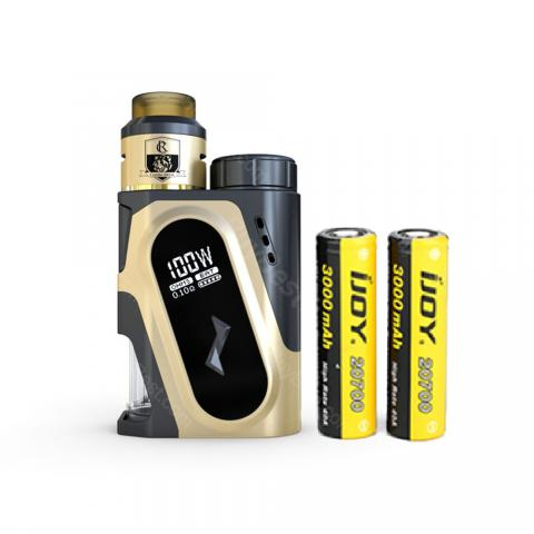 cheap 100W IJOY CAPO Squonker Kit with COMBO Triangle RDA - 3000mAh, Gold