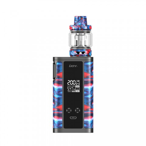 cheap 200W IJOY Captain Resin TC Starter Kit - B-Ghostfire 2ml
