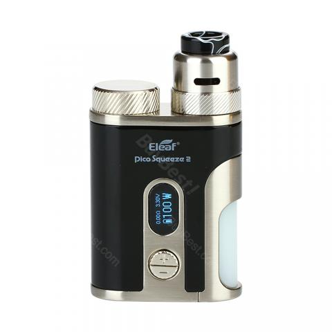 cheap 100W Eleaf Pico Squeeze 2 Kit with Coral 2 Atomizer  - Black