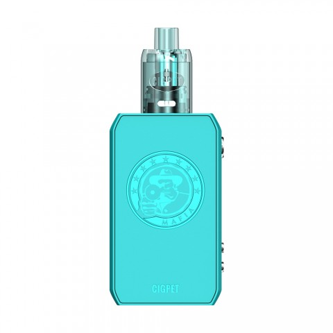 cheap [Coming Soon] 126W CIGPET CAPO Starter Kit with CIGPET Mesh Tank - Blue