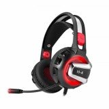 best ET H-4 Gaming Headset, Black/Red