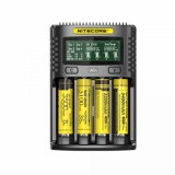 Nitecore UMS4 4-slot Quick Charger with LCD Screen, Black-1