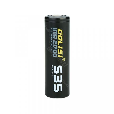Golisi S35 IMR 21700 40A High-drain Li-ion Battery - 3750mAh