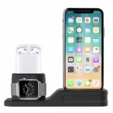 ET 4 In 1 Multi Charging Dock Stand for Apple watch/iPhone/Apple pencil/ AirPods - Black-1