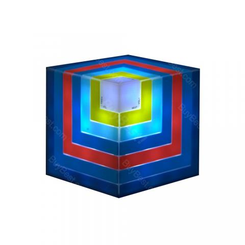 cheap Gradient Color LED Cube Bluetooth Speaker - Rainbow