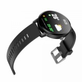 Smart Watch V11 Touch Screen Fitness Tracker Heart Rate Monitor Waterproof - Black-2