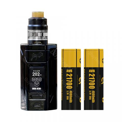 cheap 230W WISMEC Reuleaux RX2 21700 Kit 8000mAh with Gnome Tank and 21700 Battery - Black 4ml