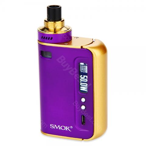 cheap 50W SMOK OSUB One TC Starter Kit - 2200mAh, Purple/Gold