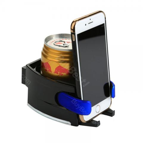 cheap 2 In 1 Car Phone Holder with Drink Cup Stand - Blue