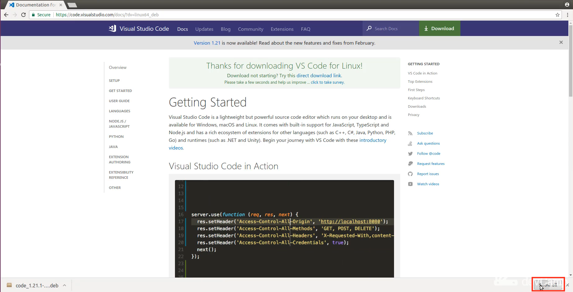 How to Install Visual Studio Code on Linux