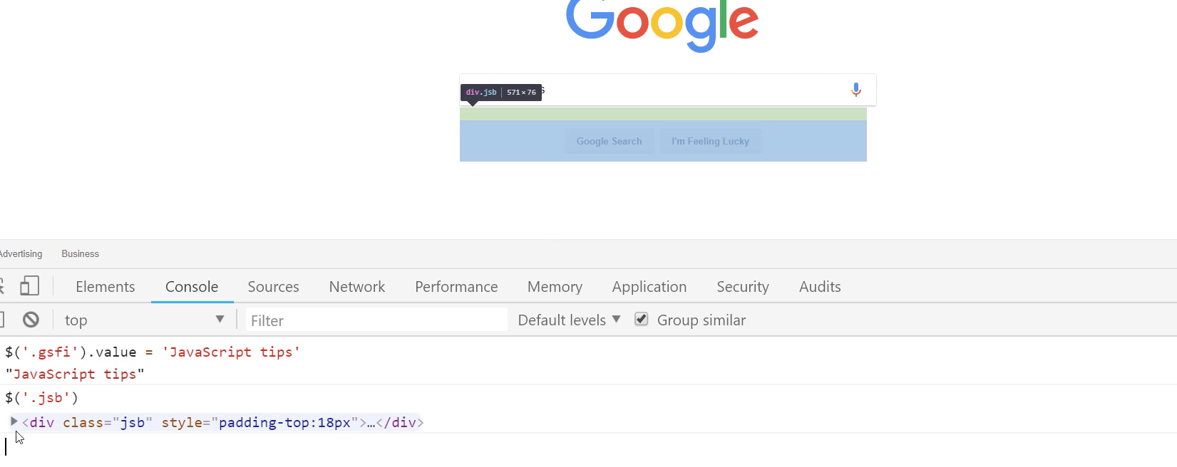 Running Google Search Queries in JavaScript