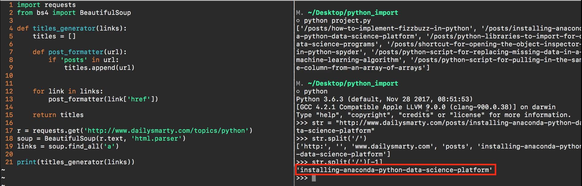 Project Solution: Build a Web Scraper in Python