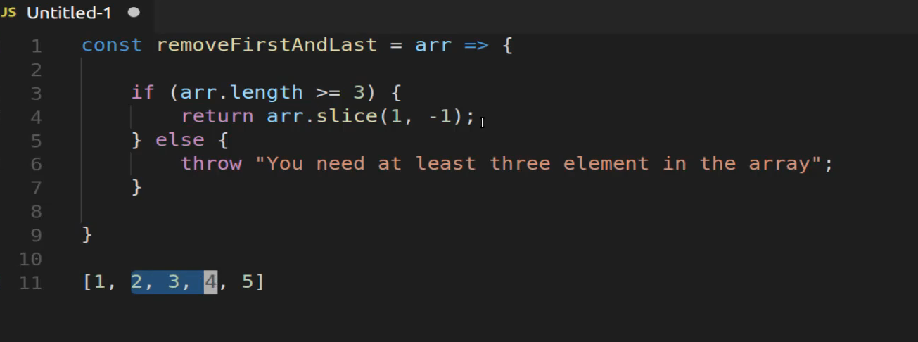 Remove the First and Last Element from a JavaScript Array