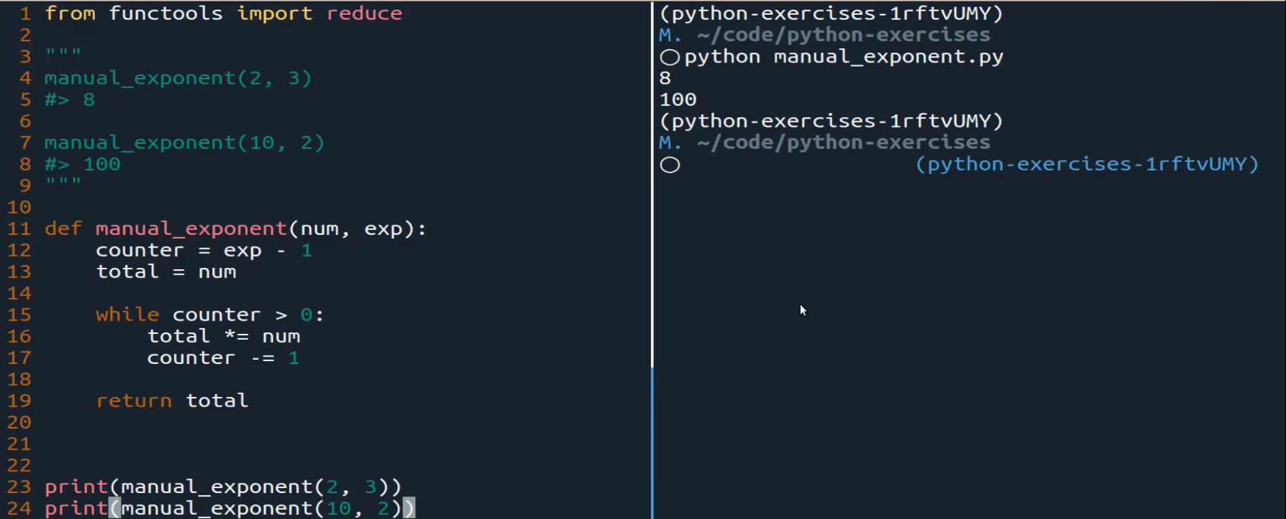 Exp python