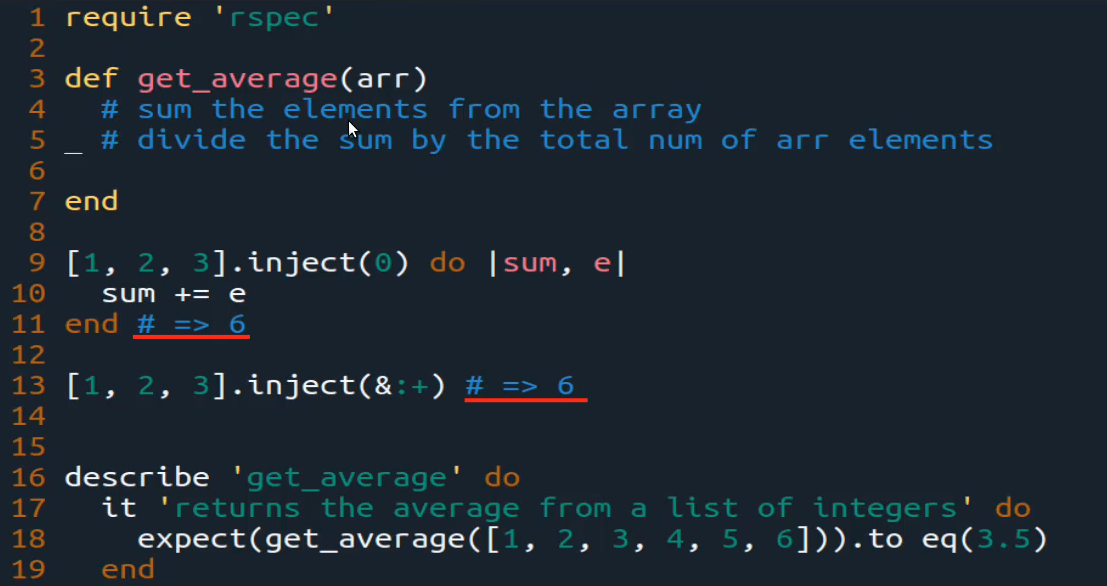 Get the Average from an Array in Ruby