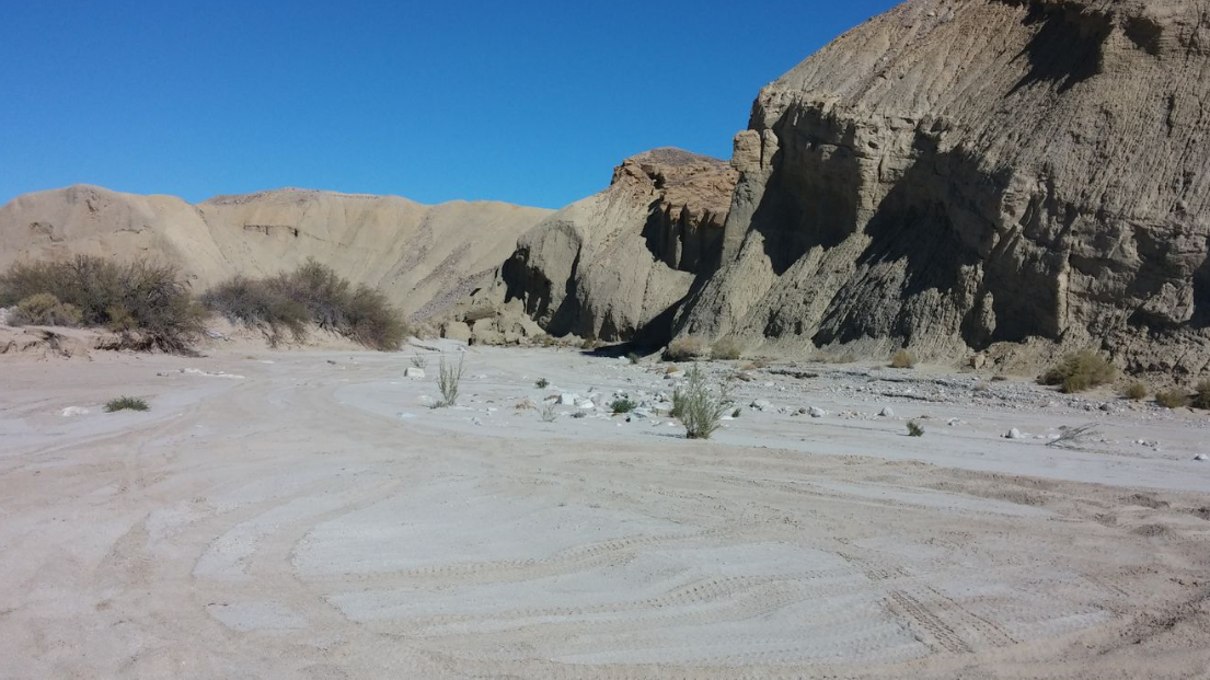 Fish Creek Trail - Anza Borrego - Waypoint 7: Loop Wash (Alt Path)