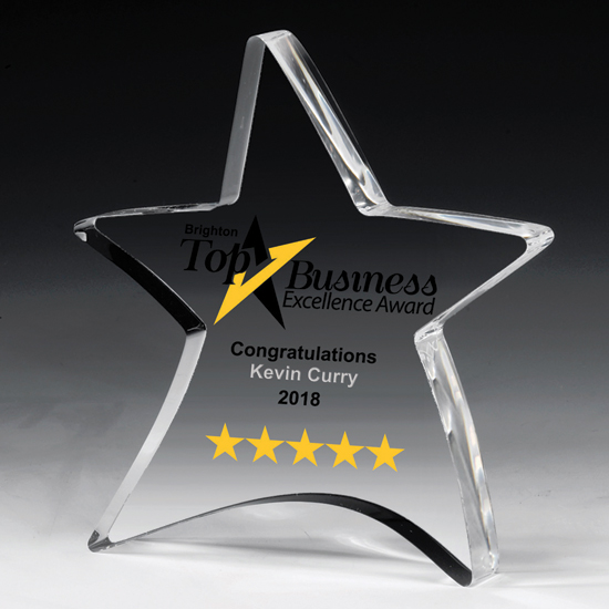 Acrylic Moving Star Paperweight