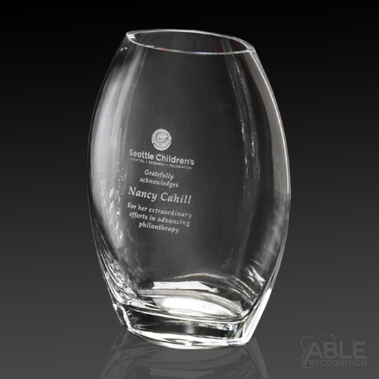 Clear Oval Vase
