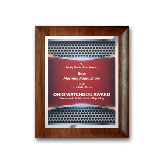 SpectraPrint Plaque - Walnut Rolled Edge