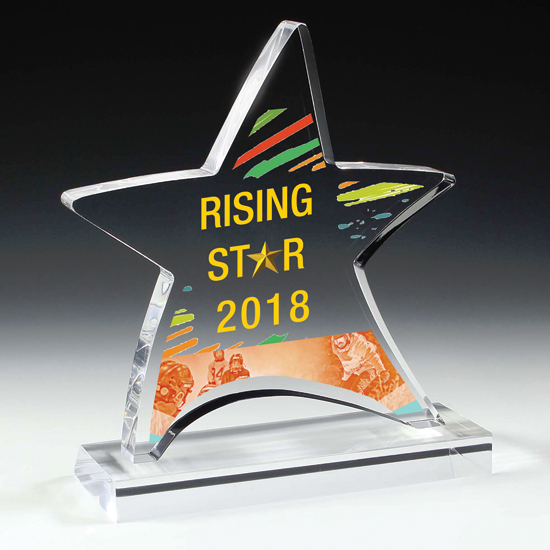 Acrylic Moving Star Award