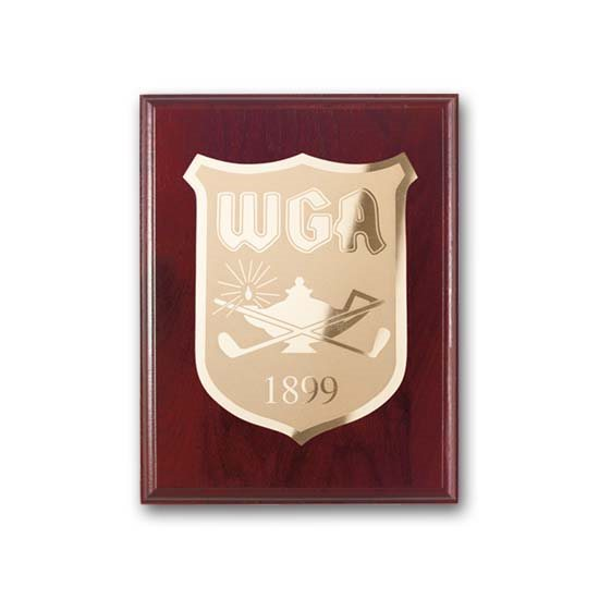 Etch/Frosted Plaque - Mahogany