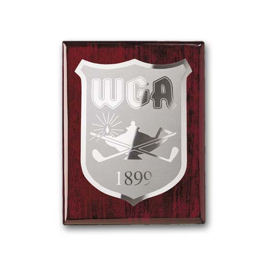 Etch/Frosted Plaque - Rosewood