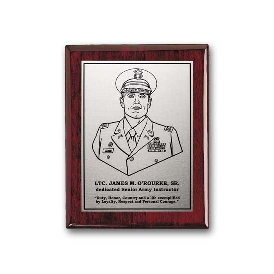 Etch/Oxidized Plaque - Rosewood