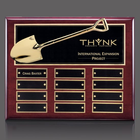 Shovel Perpetual Plaque - Rosewood 12 Plate