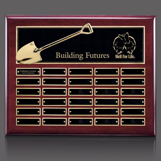 Shovel Perpetual Plaque - Rosewood 30 Plate