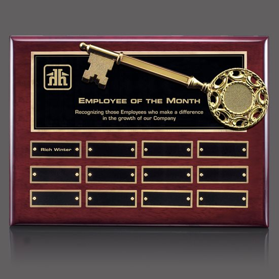 Key Perpetual Plaque - Rosewood 12 Plate