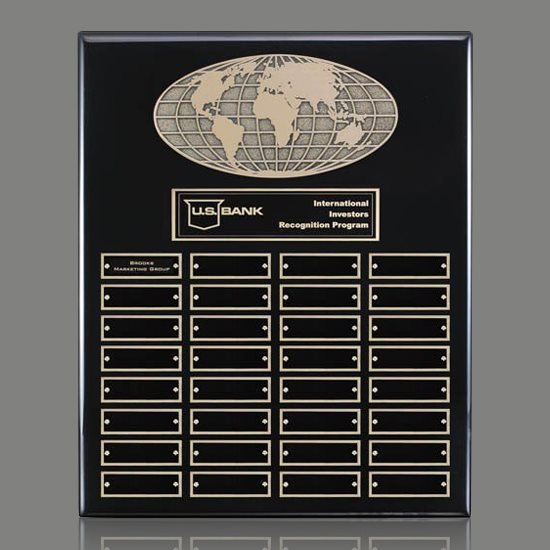 World Perpetual Plaque (Vert) - Black 32 Plate