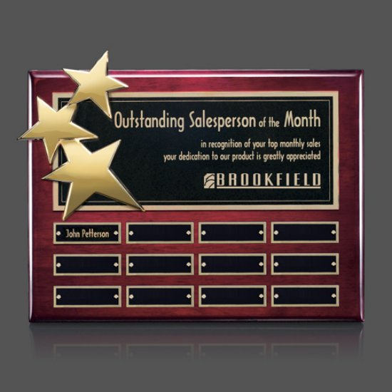 Constellation P/Plaques - Rosewood/Gold 12 Plate