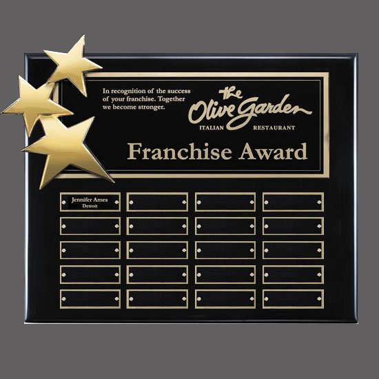 Constellation P/Plaques - Black/Gold 20 Plate