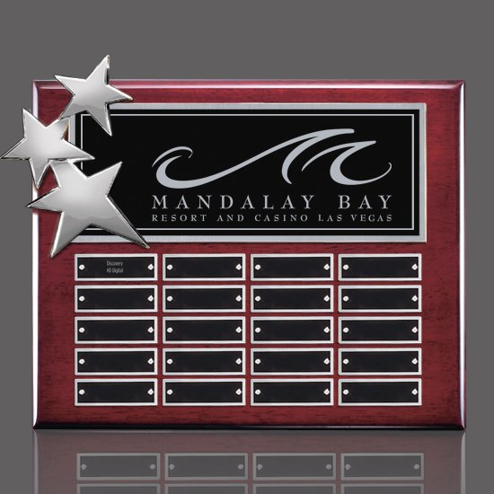 Constellation P/Plaques - Rosewood/Chrome 20 Plate