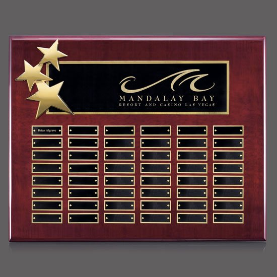 Constellation P/Plaques - Rosewood/Gold 48 Plate