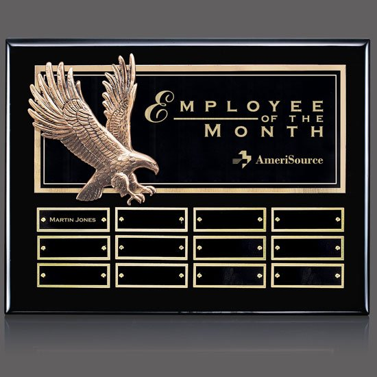 Flying Eagle P/Plaque - Ebony 12 Plate