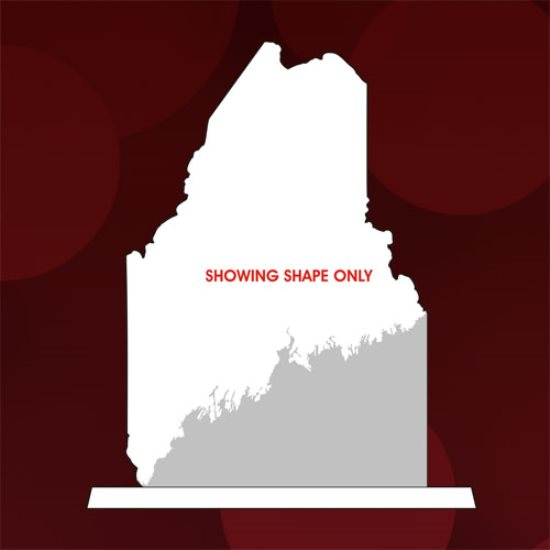 State Map - Maine Crystal Award