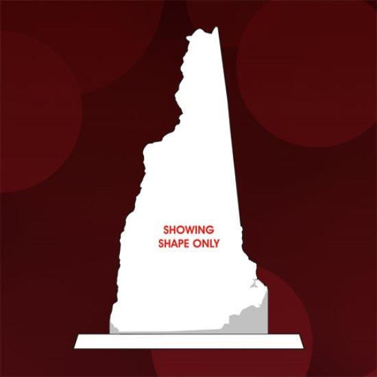 State Map - New Hampshire Crystal Award