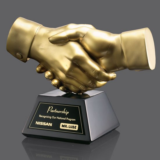 Shaking Hands Award - Gold