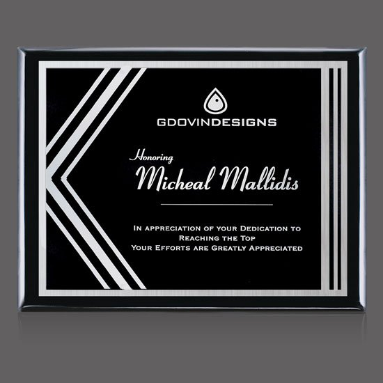 Oakleigh/Gemini Plaque - Black