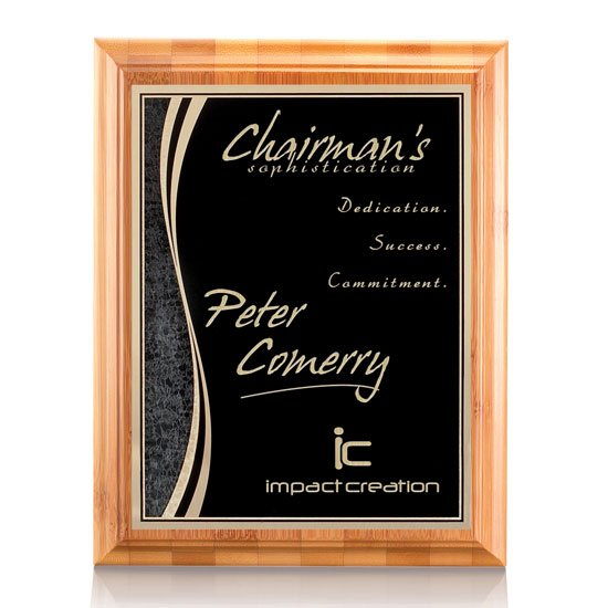 Bamboo/Finch Plaque - Black